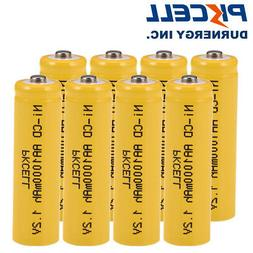 8 x NiCd AA 1000mAh 1.2V Ni-Cd Rechargeable Batteries For So