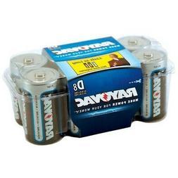 Rayovac 813-8RVP Alkaline Batteries, D Cell, 8 Pack, Reclosa