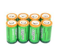 8pcs 1350mAh CR123A 3V LiFePO4 Lithium Battery For Camera Fl