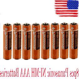 8Pcs Panasonic AAA Batteries Cordless 550mAh NI-MH Rechargea