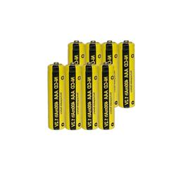 8x AAA 1.2V 400mAh NICD Rechargeable BatterIes with Button T