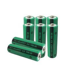 8pcs  Double A  Rechargeable Batteries AA 1.2V 1200mAh NIMH