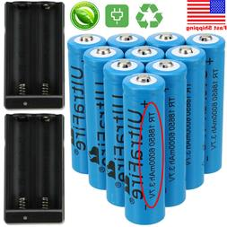 8x 18650 Battery 3.7V 6000mAh Li-ion Rechargeable Batteries