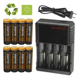 8x Garberiel Batteries 5000mAh 3.7V Li-ion Rechargeable 1865