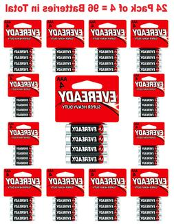 96x Eveready AAA Batteries Super Heavy Duty Carbon Zinc Fres