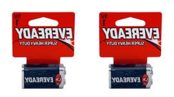 9V 1 Eveready Super Heavy Duty Carbon Zinc Batteries Pack of