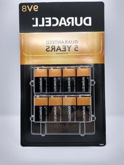 DURACELL 9V Battery 8 Pack Expire 2023 Batteries Volt 9 Fres