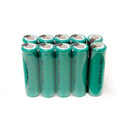 COMBO: 10 pcs Tenergy NiMH AA 2000mAh Flat Top Rechargeable