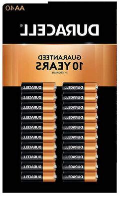 Duracell MN1500 Duralock Copper Top Alkaline AA Batteries -