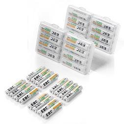 EBL 16 Pack 2800 mAh AA + 16 Pack 1100 mAh AAA Rechargeable