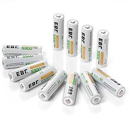 EBL Pack of 12 AA NiMH 2300mAh Precharged Rechargeable Batte