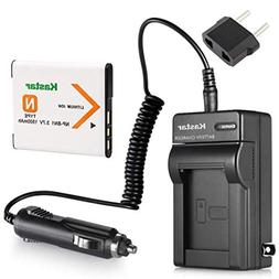 Kastar NPBN1 Battery and Charger Kit for Sony NP-BN1 N Type