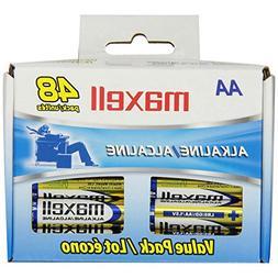 Maxell Aa Gold Series Alkaline Batteries Bulk Retail Pack -