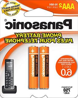 Panasonic  2-Pack Cordless Phone NiMH 700 mAh Rechargeable A