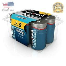 RAYOVAC D 6-Pack HIGH ENERGY Alkaline Batteries, 813-6PPK