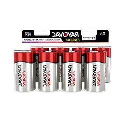 RAYOVAC D 8-Pack FUSION Premium Alkaline Batteries, 813-8LTF