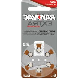 Rayovac Extra Advanced, size 312 Hearing Aid Battery