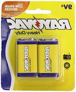Rayovac Heavy Duty 9V Batteries, D1604-4TD, 4-Pack