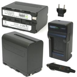Wasabi Power Battery  and Charger for Sony NP-F975, NP-F970,