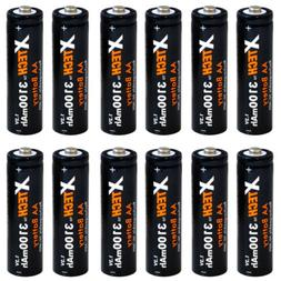 Xtech AA Ultra High-Capacity 3100mah Ni-MH Rechargeable Batt