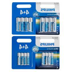 Philips AA AAA Batteries Ultra Power Alkaline Battery Pack o