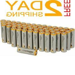 AA Alkaline Batteries Performance AA Basics 48 Pack Double A