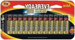 Eveready AA Batteries Gold  30039800121869 AA-36 3x longer N