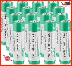 AA Lithium Battery 16 Pack, Enegitech 3000mAh 1.5V Double A