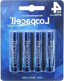 Loopacell AA Ni-MH 2700mAh Rechargeable Batteries 4 Pack