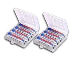8 Pcs Tenergy Premium AA 2500mAh High Capacity NiMH Recharge