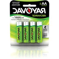 Rayovac AA Rechargeable 4-pack - 1350 mAh NiMH  Recharge Bat