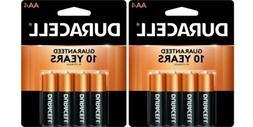 Duracell AA8 Pack Alkaline Batteries - 2 Packs Of AA4