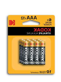 AAA Battery Alkaline Kodak XTRALIFE Batteries 12 Pack With 1