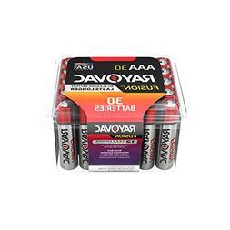 RAYOVAC AAA 30-Pack FUSION Premium Alkaline Batteries, 824-3
