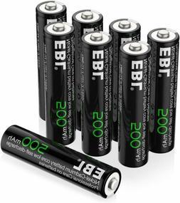 EBL AAA Rechargeable Batteries, 1.2V 500mAh High Capacity Ni