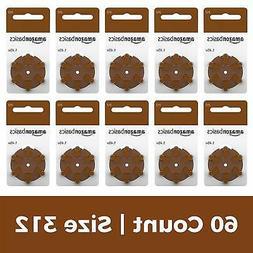AmazonBasics 1.45 Volt Hearing Aid Batteries - Pack of 60, S