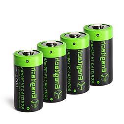 Arlo Batteries Rechargeable, Enegitech CR123A Rechargeable L