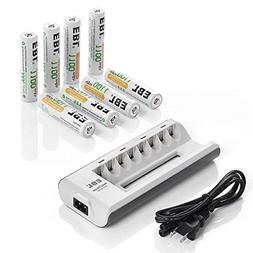 Batteries Charger AA AAA Double Triple A Pro + 8 AAA NiMH Re