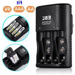 EBL 9V Battery Charger for AA AAA 9-Volt NiMH NiCd Rechargea