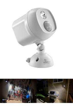 Battery Operated Dove Gray Led Single Head Spotlight
