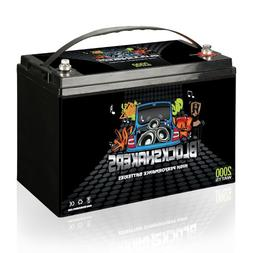Black 12V 110AH 2000 Watts M8/T8 High Current Battery replac