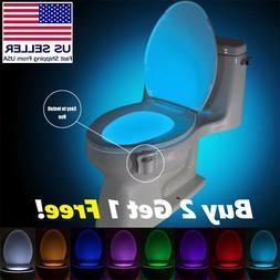bowl bathroom toilet night led 8 color