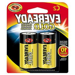 Eveready  Gold  C  Alkaline  Batteries  2 pk Carded