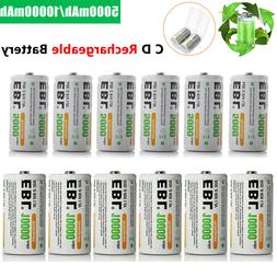 EBL C D Size Cell NI-MH Rechargeable Batteries 1.2V High Cap