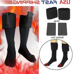 Chargable Battery Electric Heated Socks & 2Strap Boot Feet W