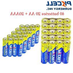 Combo 40 AA/AAA Batteries 20 AAA R03P+20 AA R6P 1.5V Zinc-Ca