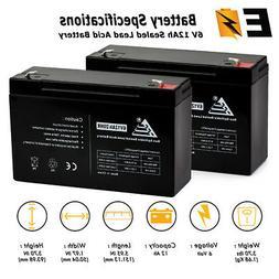 COMBO OF 2 6V 12Ah 6 Volt 12 amp hour Sealed Lead Acid Batte