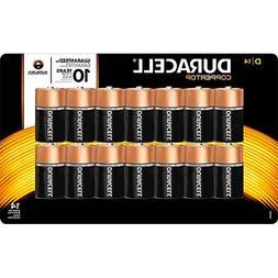 Duracell Coppertop Alkaline D Batteries, 14 Count