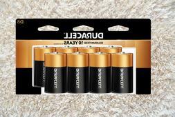 Duracell Coppertop D Alkaline Batteries, 8/Pack