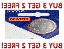 CR 2430 SONY LITHIUM BATTERIES  3V Watch New US Seller BUY 3